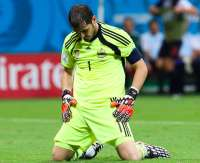 Iker Casillas, � terre