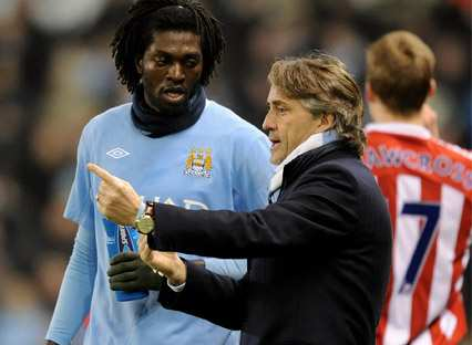 Adebayor vs Mancini