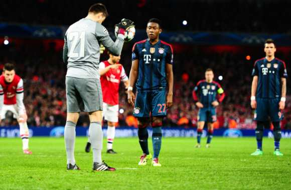 Alaba (Munich), avant son pénalty