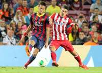 Neymar (Barcelone) et David Villa (Atletico Madrid)