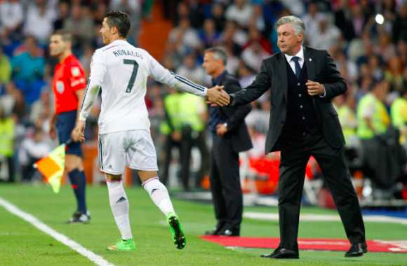 Ancelotti voit CR7 Ballon d'or
