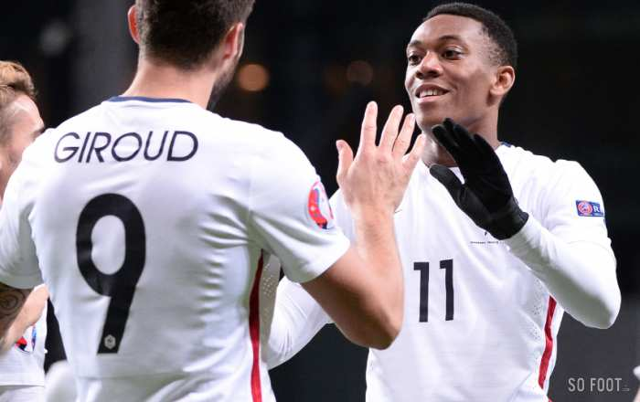 Anthony Martial, passeur décisif pour Olivier Giroud
