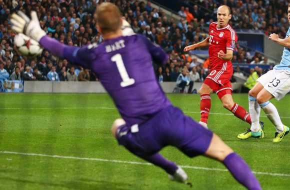 Arjen Robben (Bayern Munich) lors de son but contre Manchester City