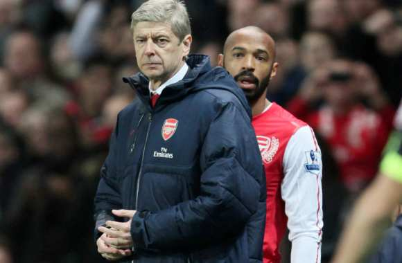 Arsene Wenger et Thierry Henry