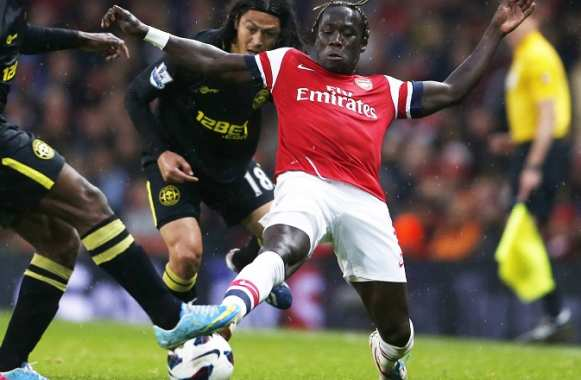 Bacary Sagna (Arsenal) face à Wigan