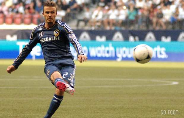 Beckham au coup-franc (Los Angeles Galaxy)