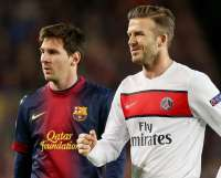 Lionel Messi et David Beckham