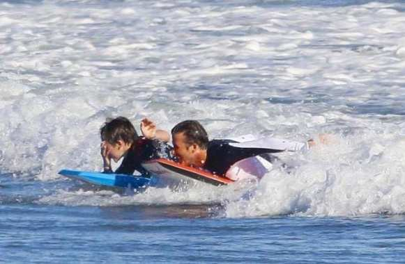 Beckham en session surf