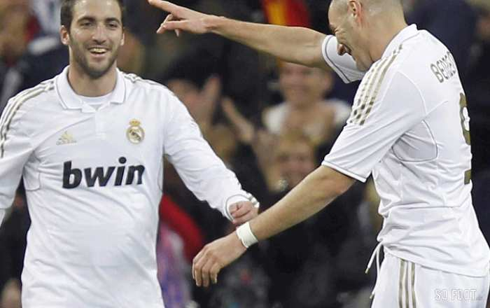 Benzema et Higuain (Real Madrid)
