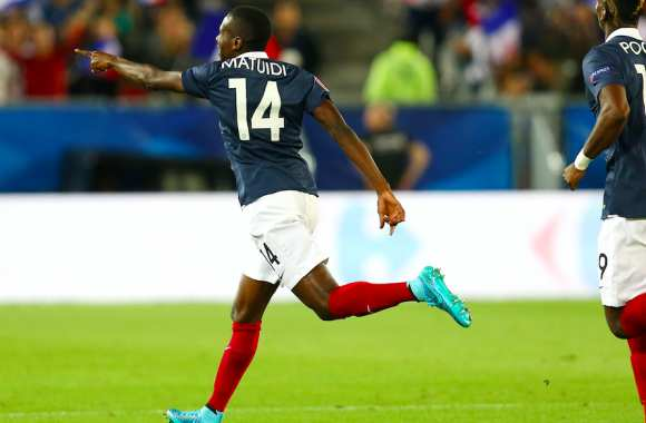 Blaise Matuidi après son but face à la Serbie