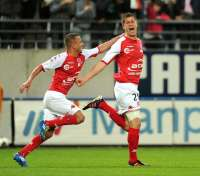 Anthony Weber et Kamel Ghilas (Reims)