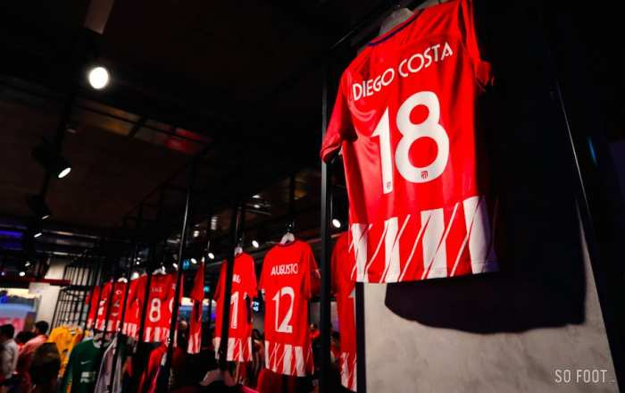 Cambriolage à la boutique officielle de l'Atlético de Madrid