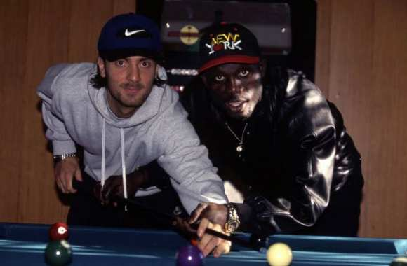 Christophe Dugarry et George Weah