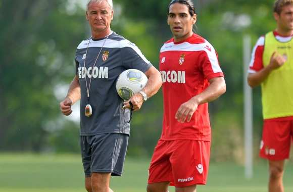 Claudio Ranieri et Radamel Falcao (AS Monaco)