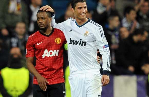 Cristiano Ronaldo (Real Madrid) et Patrice Évra (Manchester United)