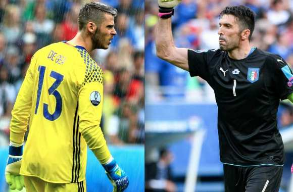 David De Gea et Gigi Buffon