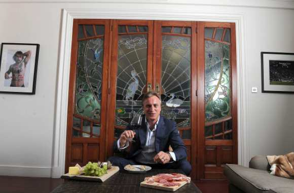 David Ginola, à table