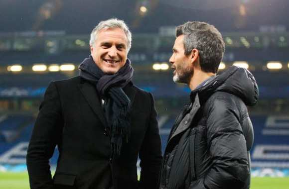 David Ginola et Dominique Armand, à Stamford Bridge.