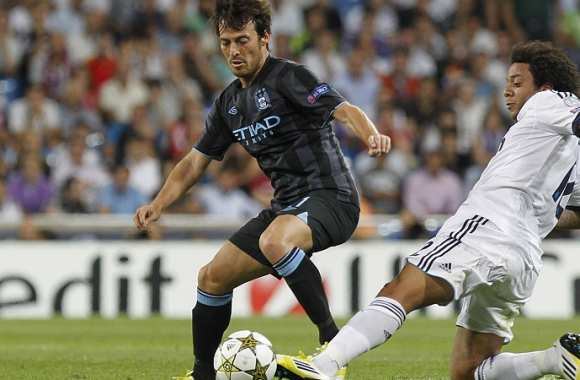 David Silva (ManCity) contre Marcelo (Real Madrid)