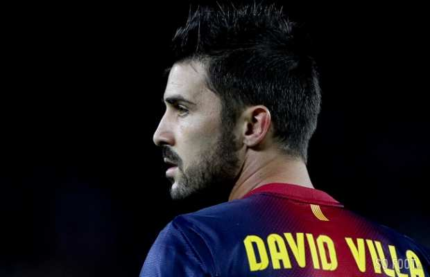 David Villa, auteur du premier but pour le Bar�a