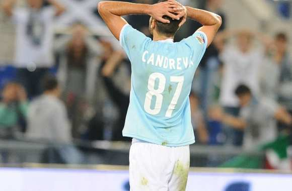 Déception d'Antonio Candreva (Lazio Rome)
