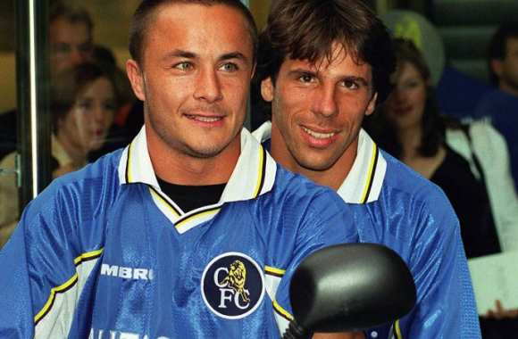 Dennis Wise et Gianfranco Zola