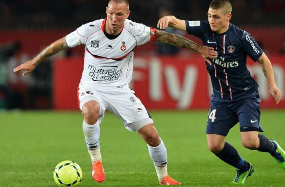 Didier Digard (Nice) face à Marco Verratti (PSG)
