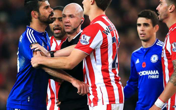 Diego Costa et Ryan Shawcross, le couple du week-end