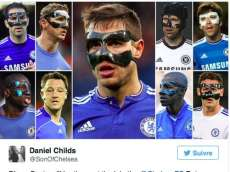 Diego Costa portera un masque de protection