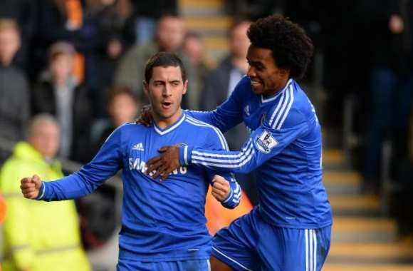Eden Hazard et Willian