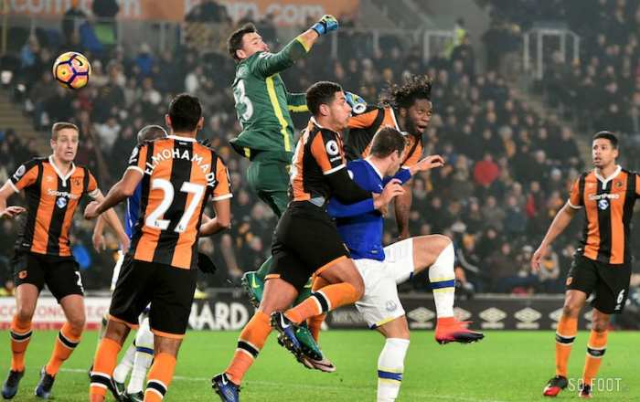 Everton arrache le nul à Hull