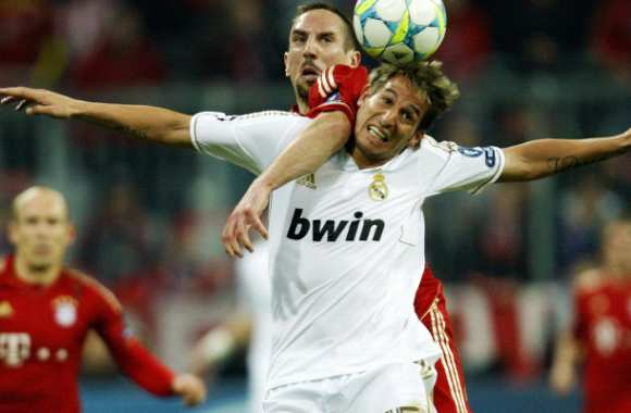 Fabio Coentrao (Real Madrid) et Franck Ribéry (Real Madrid)
