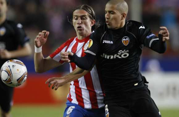 Filipe Luis Karsmirski (At. Madrid) contre Sofiane Feghouli (Valencia)