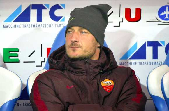 Francesco Totti et son bonnet