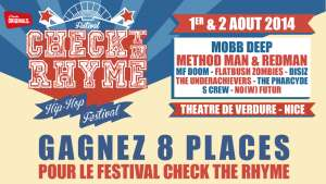 Gagnez 8 places pour CHECK THE RHYME