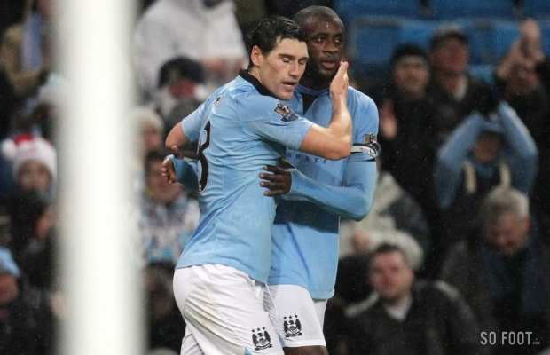 Gareth Barry et Yaya Tour� (Manchester City)