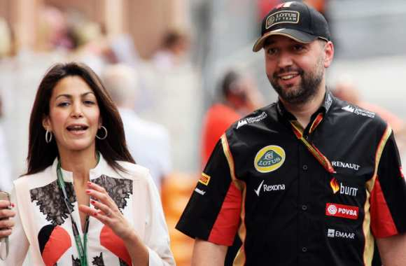 Gérard Lopez, aux commandes de son Lotus F1 Team.