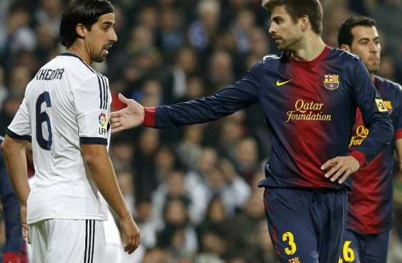 Gerard Pique (Barcelone) vs Sami Khedira (Real Madrid)