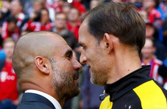 <i>German kiss</i> entre Guardiola et Tuchel.