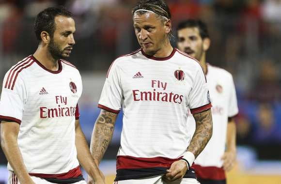 Giampaolo Pazzini avec Philippe Mexes (Milan AC)