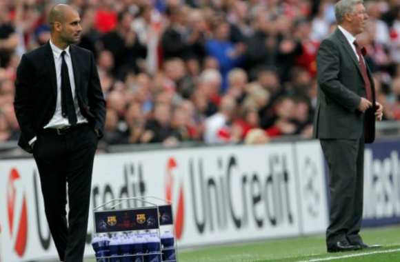 Guardiola et Sir Alex, en finale de C1, en 2011