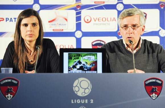 Helena Costa et Claude Michy (Clermont Foot)