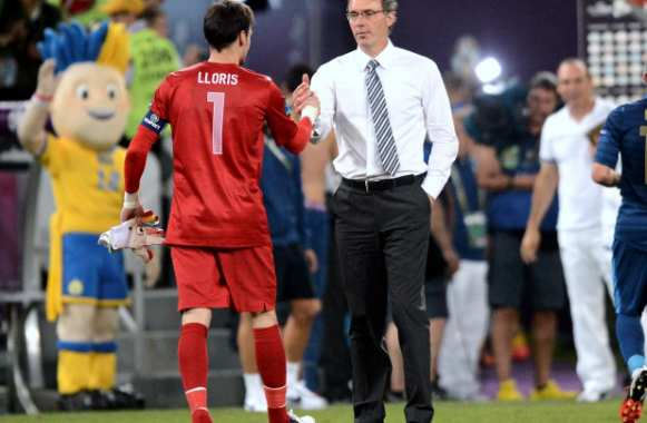 Hugo Lloris et Laurent Blanc
