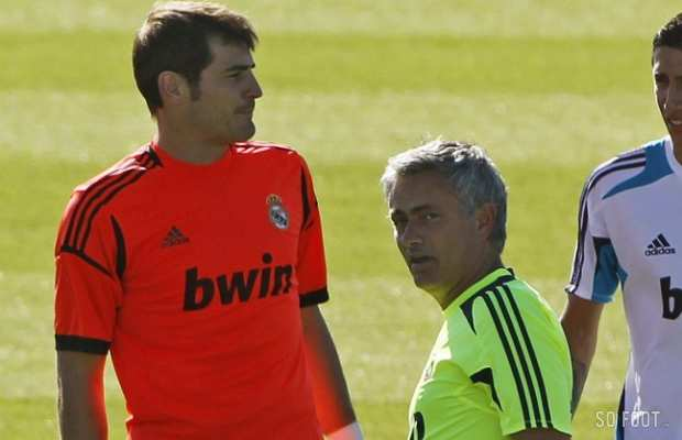Iker Casillas et Jos� Mourinho (Real Madrid)