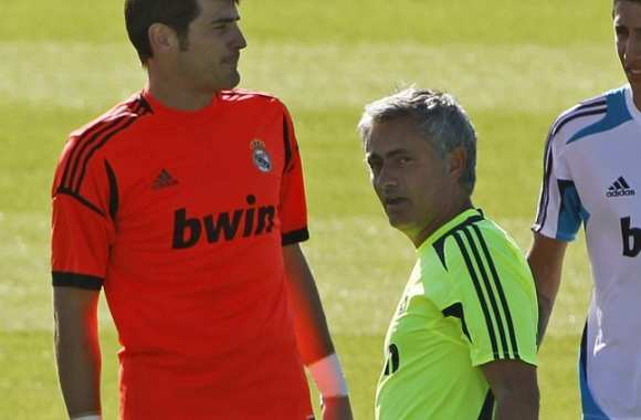 Iker Casillas et José Mourinho (Real Madrid)