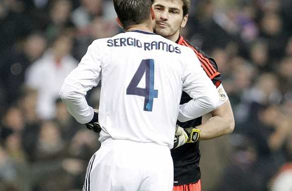 Iker Casillas et Sergio Ramos (Real Madrid)
