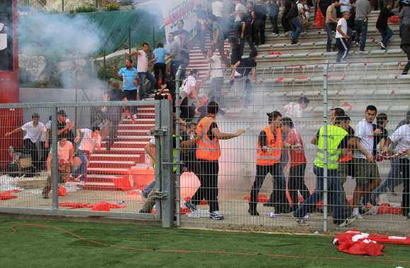 Incidents entre supporters bastias et ajacciens lors du derby de mars 2013