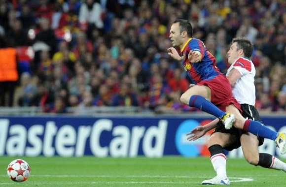 Iniesta et le football passion