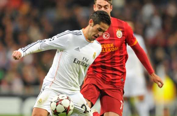 Isco (Real Madrid) face à Galatasaray