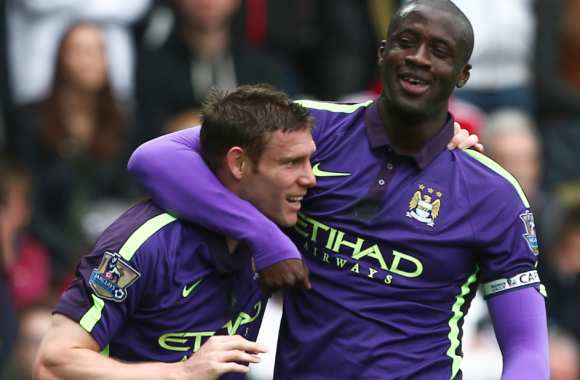 James Milner et Yaya Touré